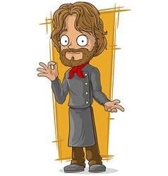 Cartoon bearded chef in black vector image