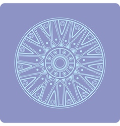 Celtic circular geometric floral ornament vector image