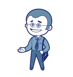 Character manager with business bag vector