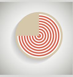 Circles abstract design element vector