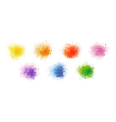 colorful watercolor on white background vector image
