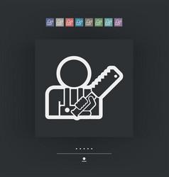 Craftsman icon vector