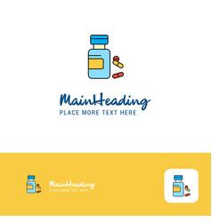 creative medicine logo design flat color logo vector image