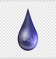 creative of petroleum drop vector image