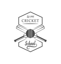 cricket school logotype vector image