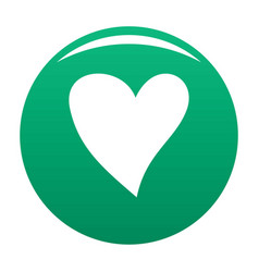 Cruel heart icon green vector