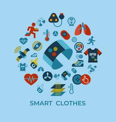 digital smart clothes fashion gadget vector image