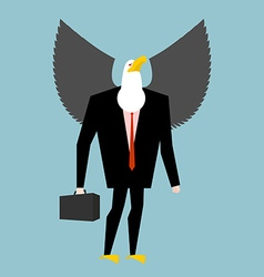 Eagle businessman business bird in suit Winged vector image