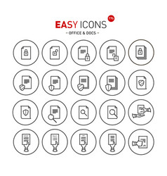 Easy icons 17b docs vector