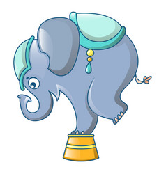 elephant at circus icon cartoon style vector image