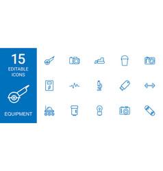 Equipment icons vector