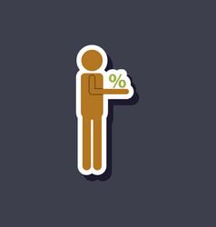 Fashion patch sale sticker human discounts vector
