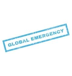 Global Emergency Rubber Stamp vector