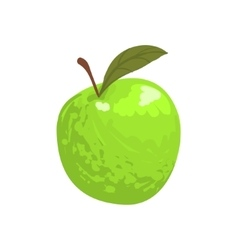Green Garden Apple Funky Hand Drawn Fresh Fruit vector image