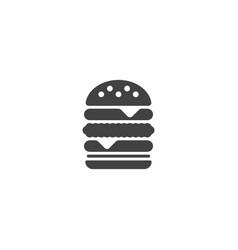 Hamburger burger icon vector