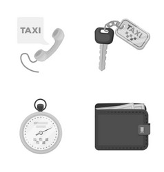 handset with the inscription of a taxi car keys vector image