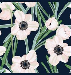 hellebore anemone vector image