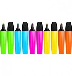 Highlighter pens vector