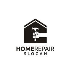 Home repair logo template vector