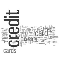 increase your credit through credit cards vector image