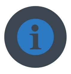 Information flat smooth blue colors round button vector