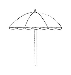 isolated beach umbrella vector image