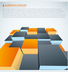Isometric modern business background vector