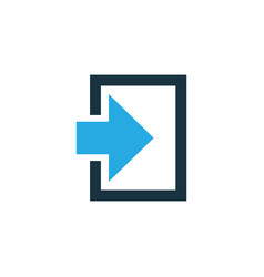 log in colorful icon symbol premium quality vector image
