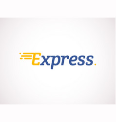 Logistic logo arrow express delivery icon vector