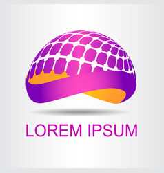 Logo stylized spherical surface vector
