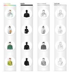 man doctor bathrobe and other web icon in vector image