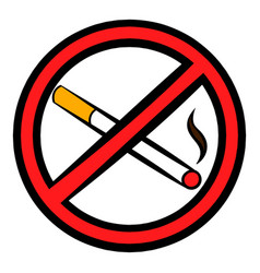 No smoking sign icon icon cartoon vector