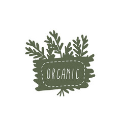 organic badges vector image