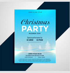 poster design for christmas celebration party vector image