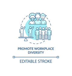 Promote workplace diversity concept icon vector