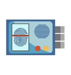 protective entrance system with fingerprint vector image