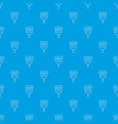 rt sign pattern seamless blue vector image