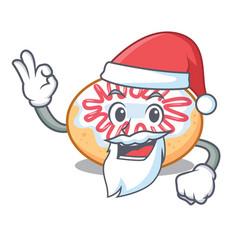 Santa jelly donut mascot cartoon vector