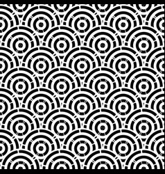 seamless black and white rounded vector image