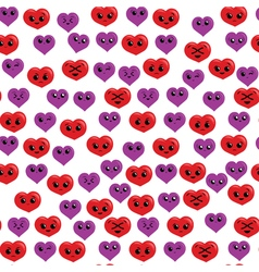 Seamless funny and cute pattern with red and vector