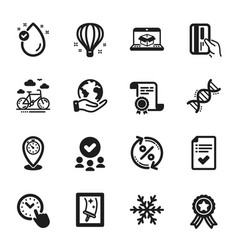 Set business icons such as air conditioning vector