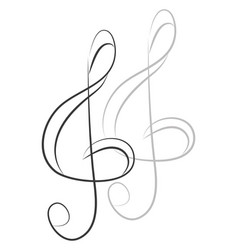 simple violin key on white background vector image