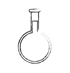 Sketch flask glassware medicine laboratory vector