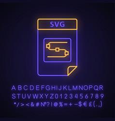 Svg file neon light icon vector