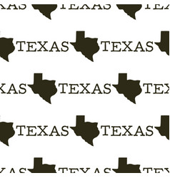 texas pattern with silhouette texas shapes and vector image