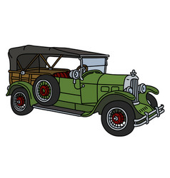the vintage green convertible vector image