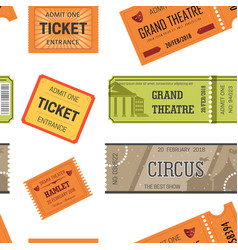 tickets design templates for movie theater or vector image
