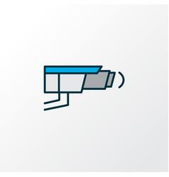 video control icon colored line symbol premium vector image