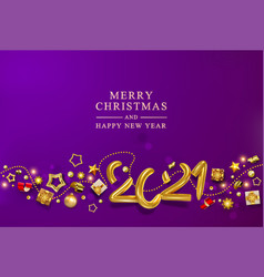 violet christmas banner holiday background with vector image