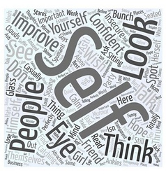 Why is it important to improve yourself Word Cloud vector